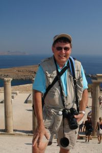 Aubrey Mullings at the Acropolis of Lindos, Greece.